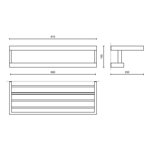 zack handtuchablage linea edelstahl matt 40372 handtuchhalter ablage handtuch ebay. Black Bedroom Furniture Sets. Home Design Ideas