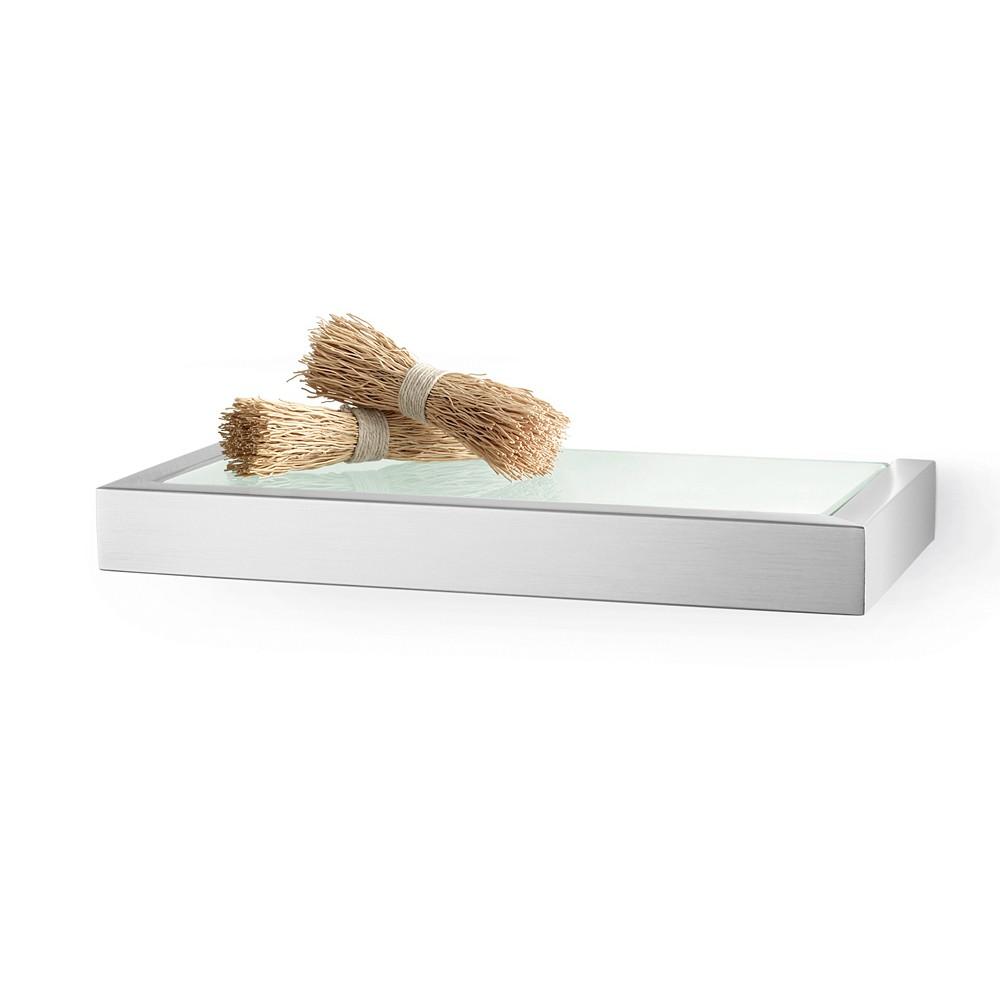 zack badablage linea edelstahl matt 26 5 cm 40383 ebay. Black Bedroom Furniture Sets. Home Design Ideas