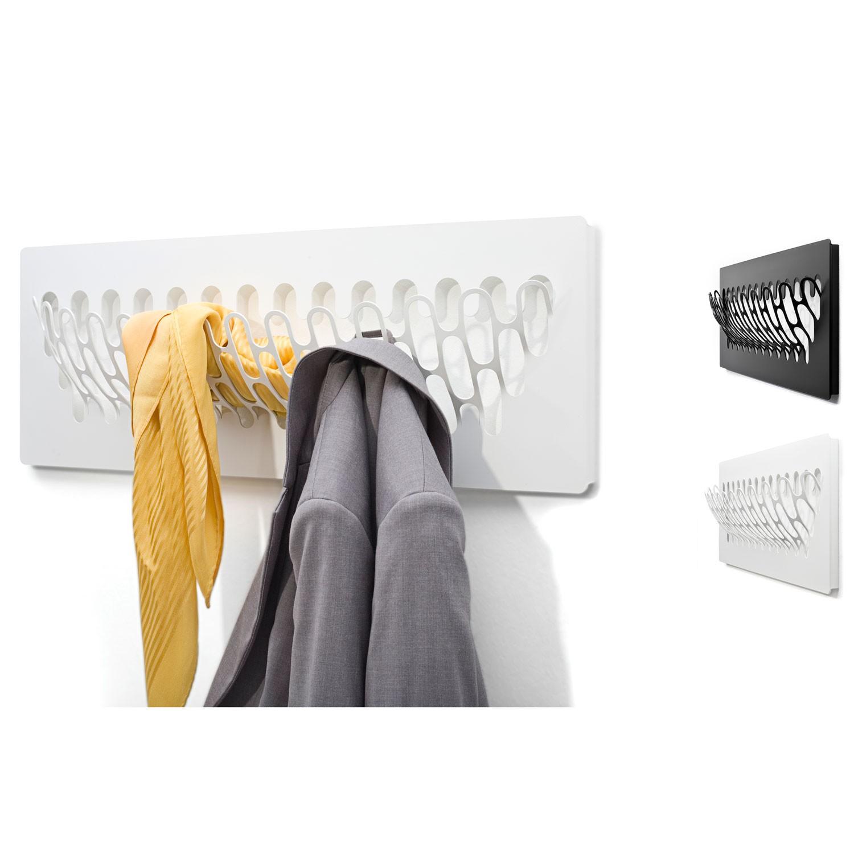 Hochwertige Design Garderobe mit 6 Haken Kiefer roh 3839