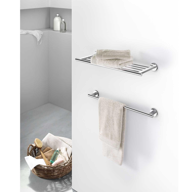 zack handtuchablage scala edelstahl gl nzend 40065 ohne bohren handtuch ablage ebay. Black Bedroom Furniture Sets. Home Design Ideas