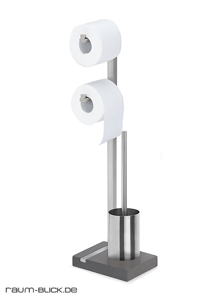 blomus menoto toilettenbutler edelstahl matt 68623 wc garnitur toilettengarnitur. Black Bedroom Furniture Sets. Home Design Ideas