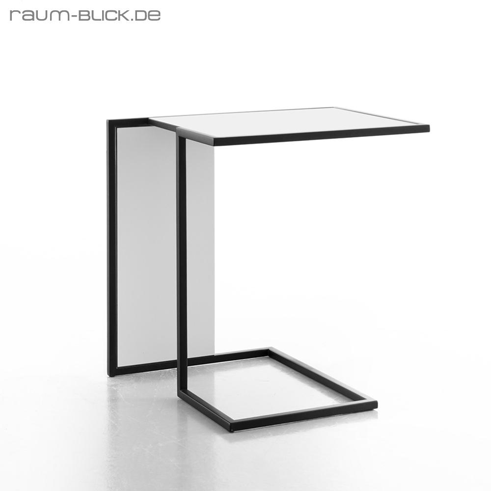 conmoto riva beistelltisch tisch couchtisch wei schwarz. Black Bedroom Furniture Sets. Home Design Ideas
