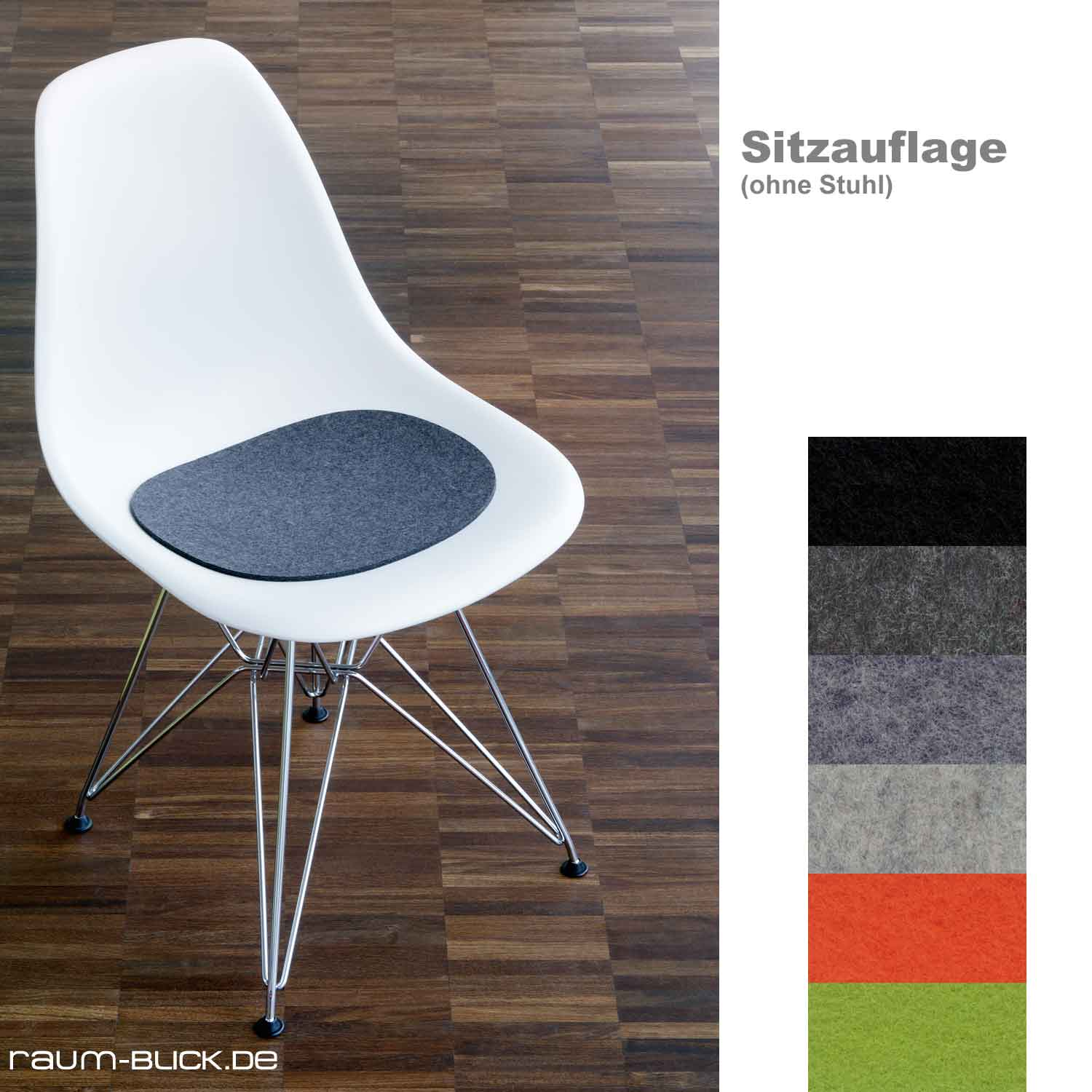 hey sign filz sitzauflage sitzkissen f vitra stuhl eames plastic side chair ebay. Black Bedroom Furniture Sets. Home Design Ideas