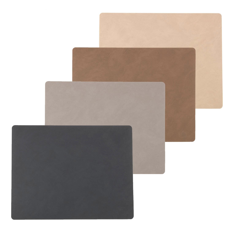 tischset tablemat square lind dna leder platzset ebay. Black Bedroom Furniture Sets. Home Design Ideas