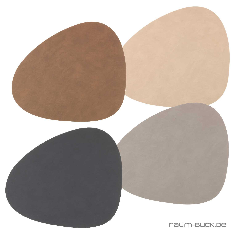 tischset tablemat nupo curve lind dna leder platzset ebay. Black Bedroom Furniture Sets. Home Design Ideas