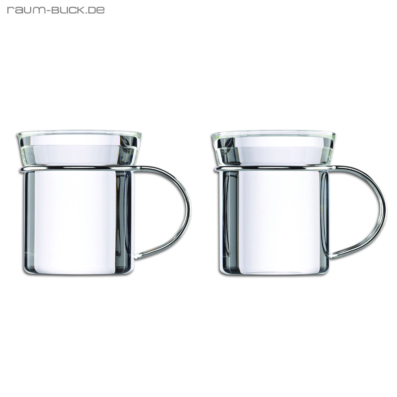 mono filio teebecher 2er set glas teeglas tasse ebay. Black Bedroom Furniture Sets. Home Design Ideas