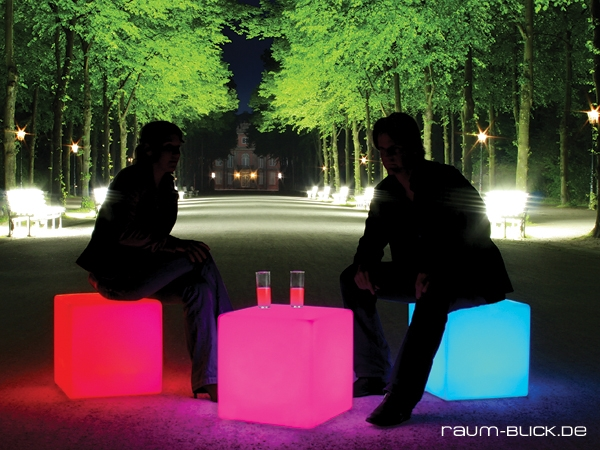 moree cube led outdoor akku sitzw rfel leuchttisch ebay. Black Bedroom Furniture Sets. Home Design Ideas
