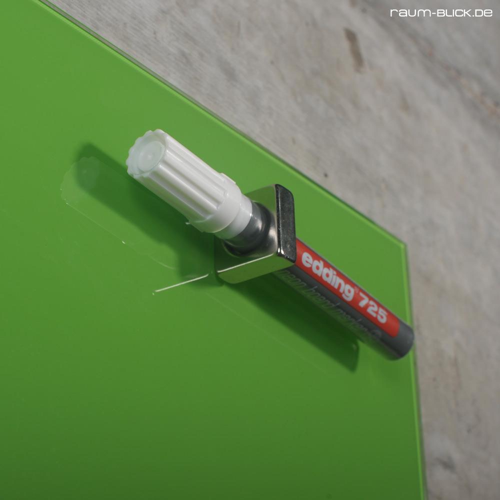 raum blick glas magnettafel max 80x50 cm gr n magnetwand magnetboard whiteboard. Black Bedroom Furniture Sets. Home Design Ideas