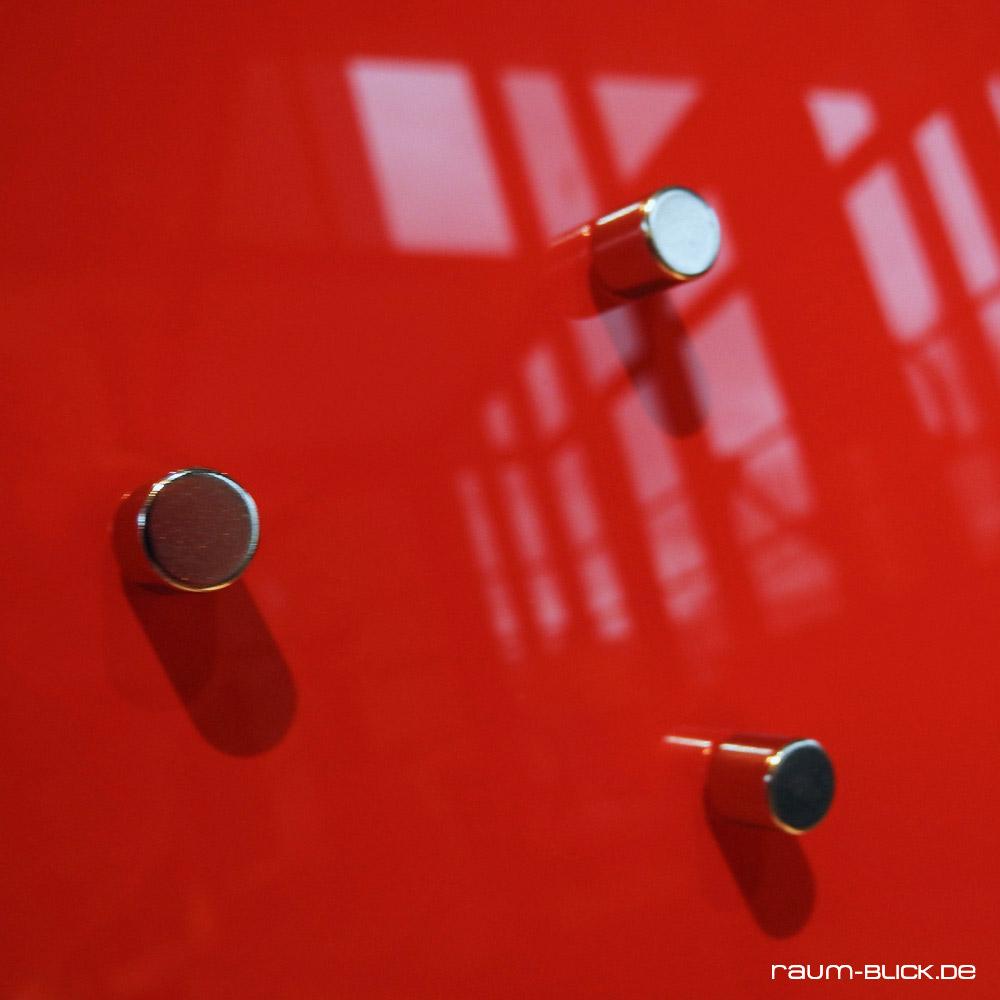 Magnetwand Magnetboard Whiteboard raum-blick Glas Magnettafel MAX 50x30 cm weiß