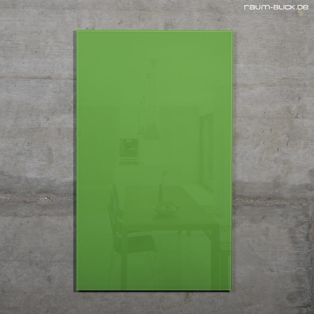 raum blick glas magnettafel max 50x30 cm gr n magnetwand magnetboard whiteboard ebay. Black Bedroom Furniture Sets. Home Design Ideas
