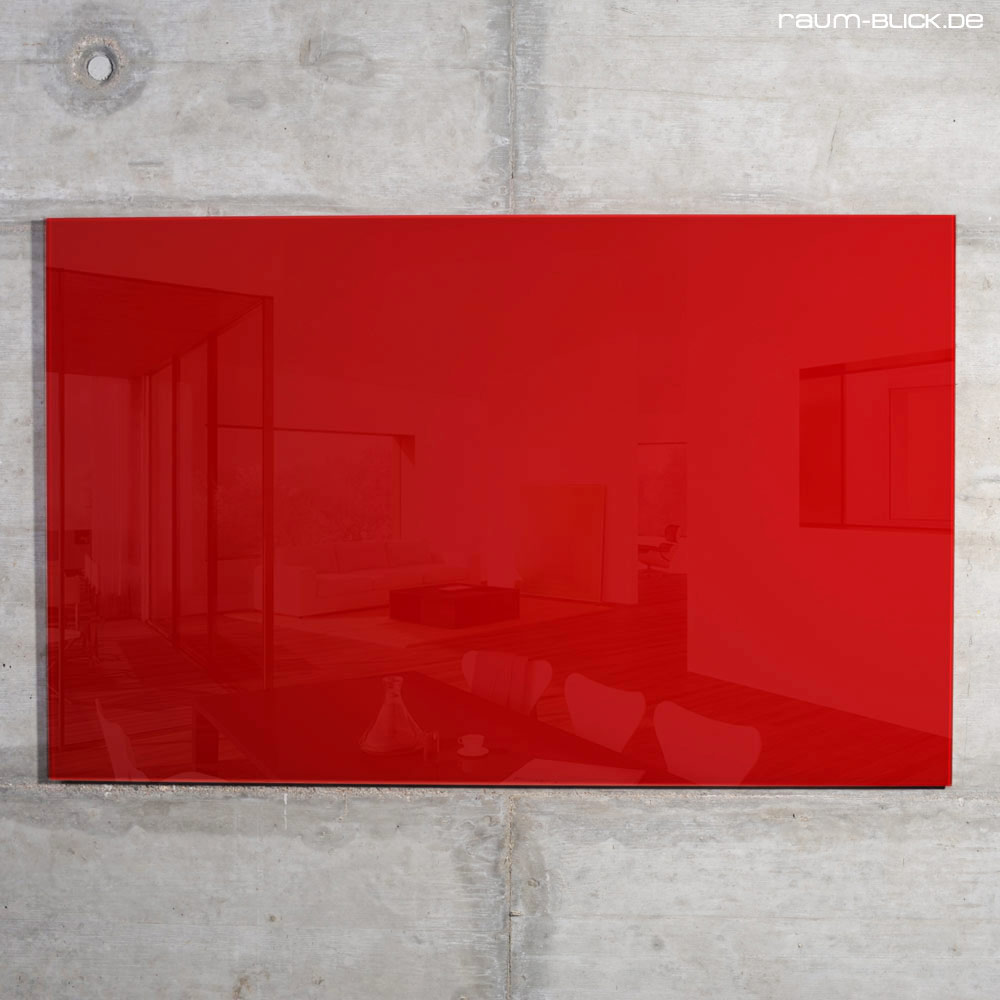 raum blick glas magnettafel max 100x60 cm rot magnetwand magnetboard whiteboard ebay. Black Bedroom Furniture Sets. Home Design Ideas