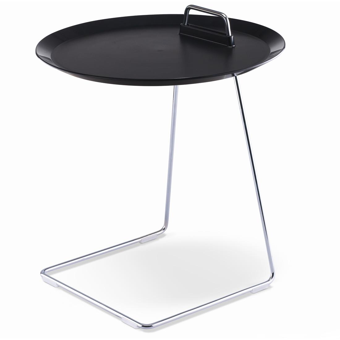 porter beistelltisch anthrazit schwarz studio domo tisch tablett abnehmbar. Black Bedroom Furniture Sets. Home Design Ideas