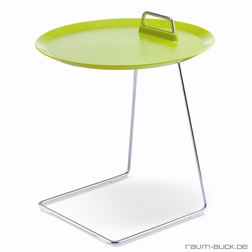 porter beistelltisch gr n studio domo tisch tablett abnehmbar ebay. Black Bedroom Furniture Sets. Home Design Ideas