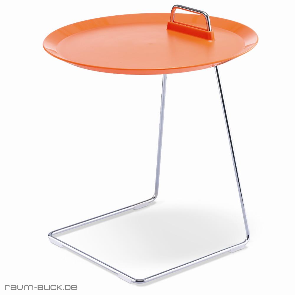 Porter beistelltisch orange studio domo tisch tablett for Beistelltisch orange