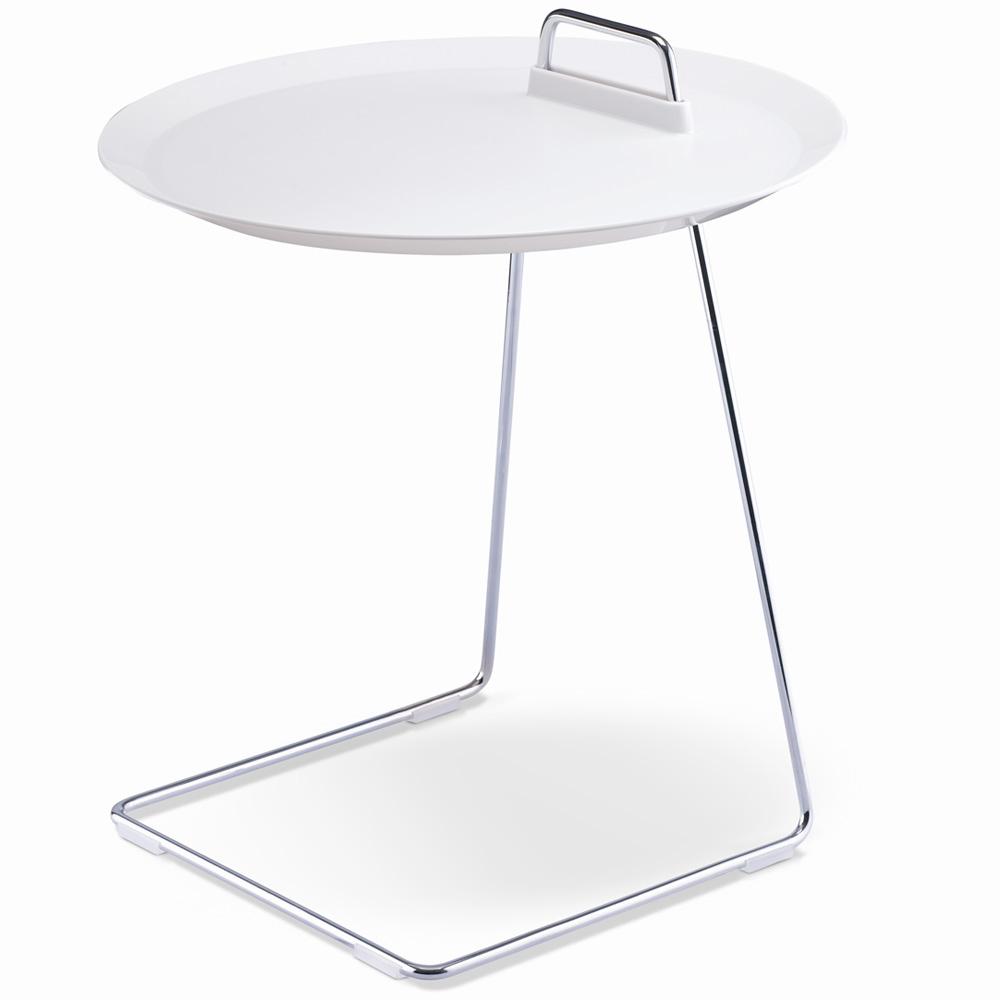 porter beistelltisch wei studio domo tisch tablett abnehmbar ebay. Black Bedroom Furniture Sets. Home Design Ideas