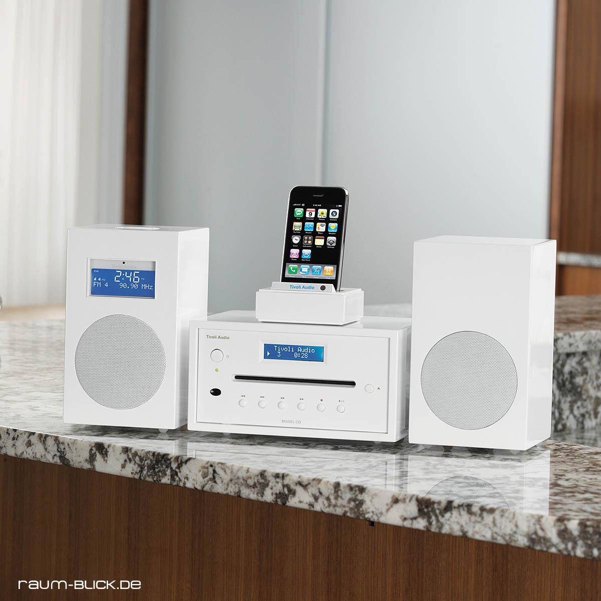 tivoli audio ten dab plus dab digitalradio lack weiss. Black Bedroom Furniture Sets. Home Design Ideas
