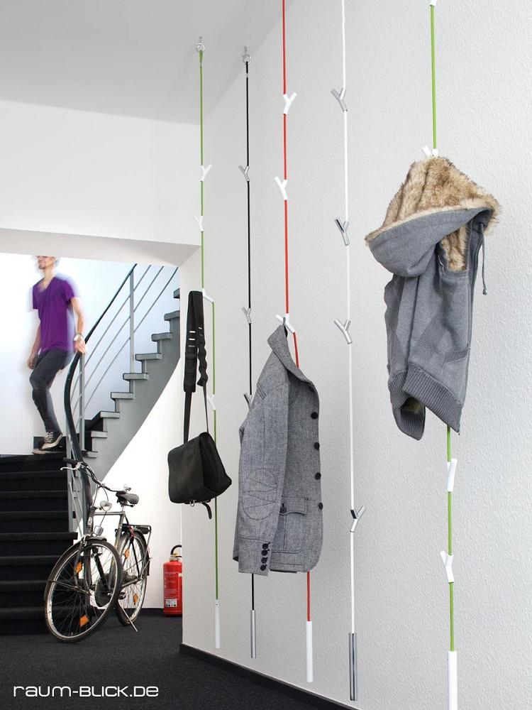 authentics wardrope garderobe seil rot silber h ngegarderobe ebay. Black Bedroom Furniture Sets. Home Design Ideas