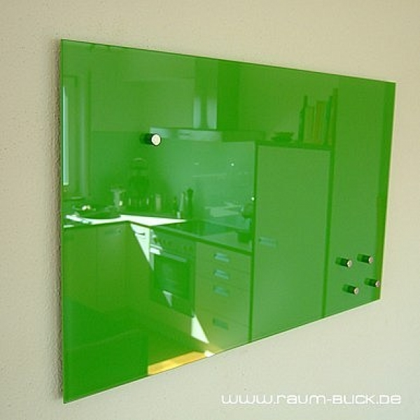 glas magnettafel max 50x30 cm design magnetwand gr n ebay. Black Bedroom Furniture Sets. Home Design Ideas