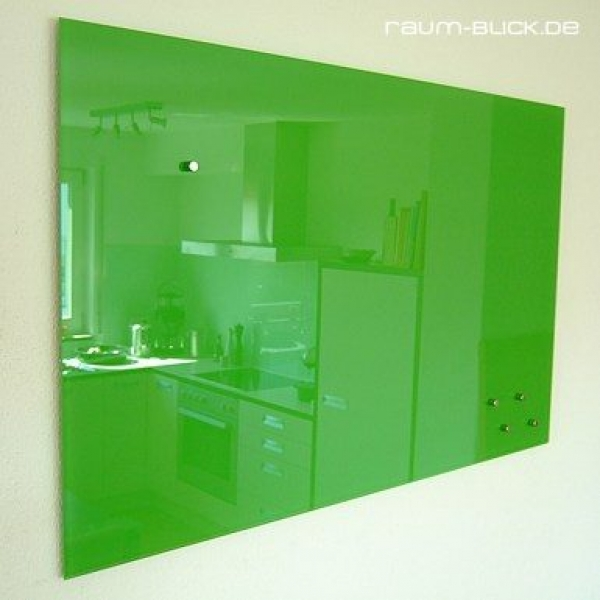 glas magnettafel max 80x50 cm design pinnwand gr n ebay. Black Bedroom Furniture Sets. Home Design Ideas