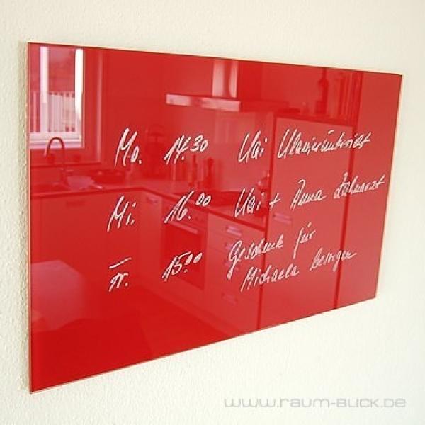 glas magnettafel max 80x50 cm design magnetwand rot ebay. Black Bedroom Furniture Sets. Home Design Ideas