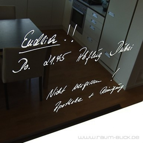 glas magnettafel max 80x50cm design pinnwand schwarz ebay. Black Bedroom Furniture Sets. Home Design Ideas