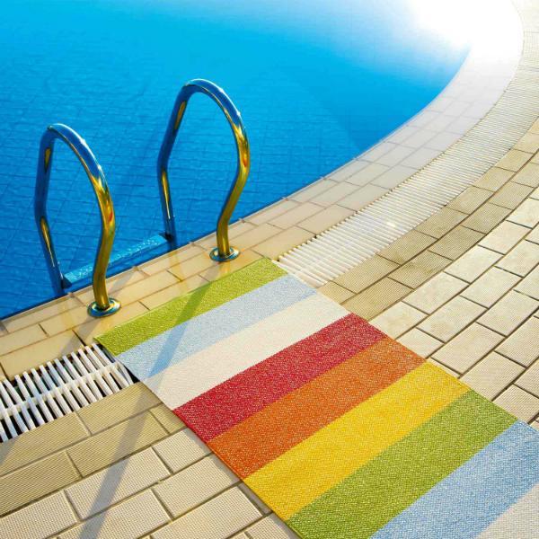 Pappelina Molly Outdoor Teppich aus hochwertigem Kunststoff handgewebt outdoorgeeignet