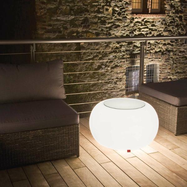moree Bubble Indoor Outdoor leuchtender gute Laune Beistelltisch und Hocker