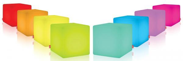 moree Cube LED Akku Outdoor mit Fernbedienung Sitzmöbel Tisch Dekorationsobjekt