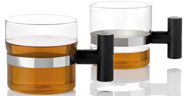 stelton T Tasse aus Glas mit robustem Griff 2er-Set