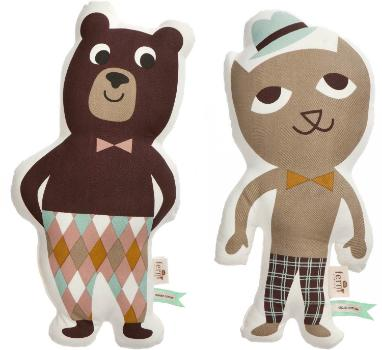 ferm-living-kinderkissen-mr-bear-und-mr-cat
