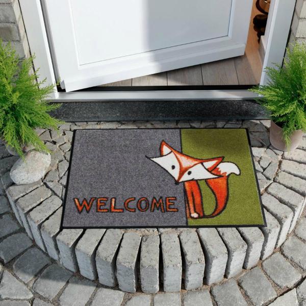 Salonlöwe Willkommen Fuchs Fußmatte für drinnen und draußen