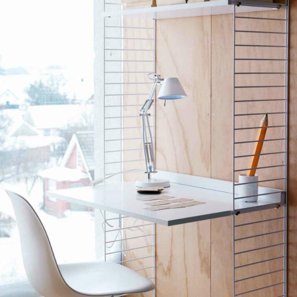 String Regalsystem Arbeitsplatte Schreibtisch