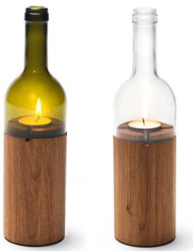 Weinlicht von side-by-side Fruehlingsdeko