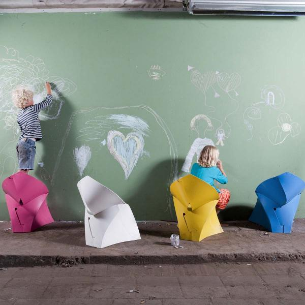 flux chair junior gelb faltbarer Kinder-Stuhl
