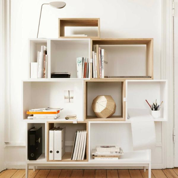 Flexibles Regalsystem Muuto Stacked Esche