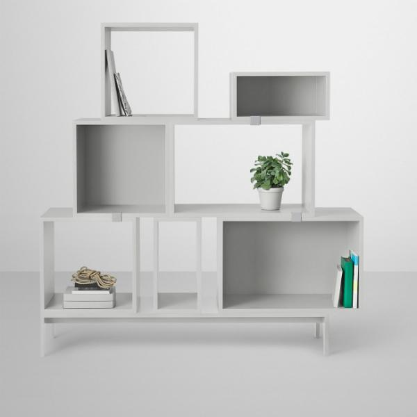 Flexibles Regalsystem Muuto Stacked Hellgrau