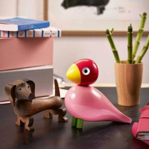 Kay Bojesen Singvoegel fuer die Spielecke im Kinderzimmer