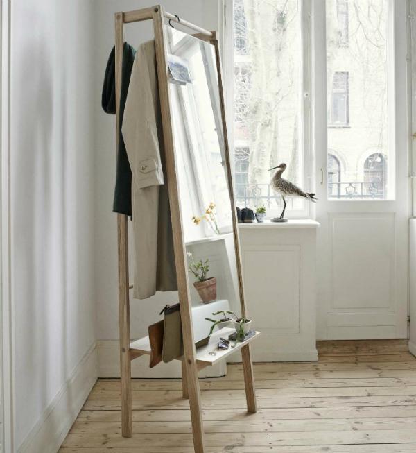 Skagerak Garderobe mit Spiegel Push