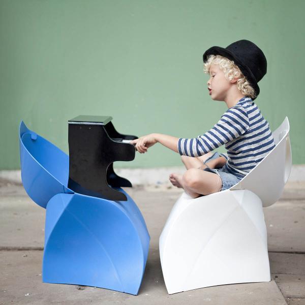 flux chair junior blau faltbarer Kinder-Stuhl