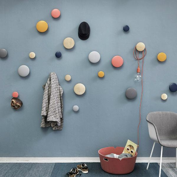Wandhaken in 5er Set von Muuto The Dots