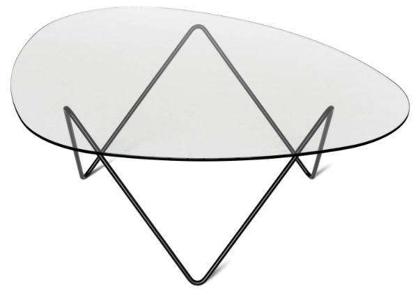 Organisch geformter Glastisch von Barba Corsini