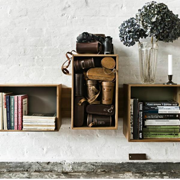 We Do Wood SJ Bookcase Midi Wandregal aus Bambus