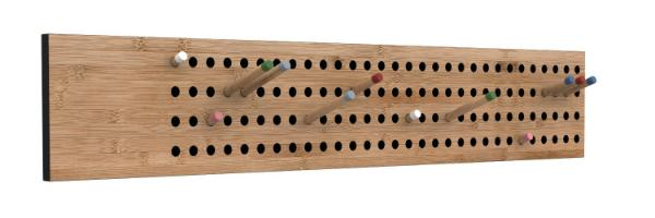 We Do Wood Scoreboard horizontal Garderobe aus Bambus