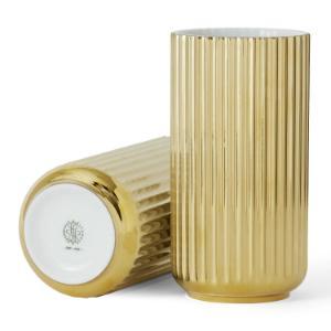 lyngby-porzellan-vase-gold