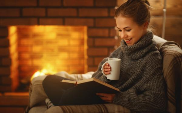 Sinnliche Kaminabende mit einem guten Buch