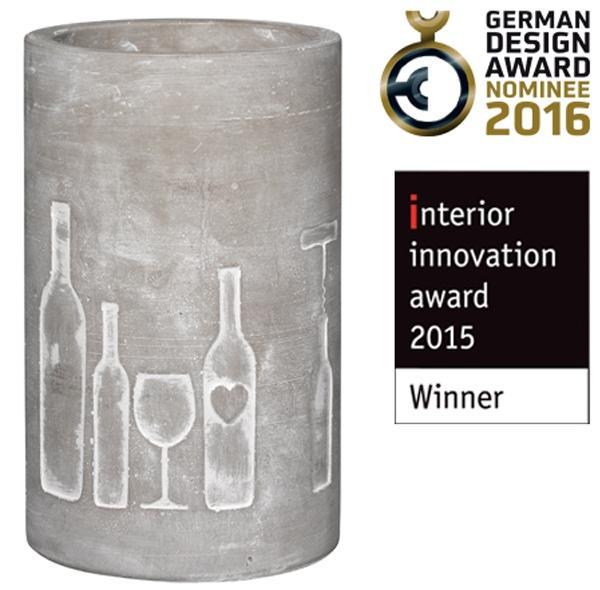 raeder-design-weinkuehler-beton-flasche-wein-kuehlen