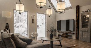 Wohnzimmer mit Luxus-Lampen