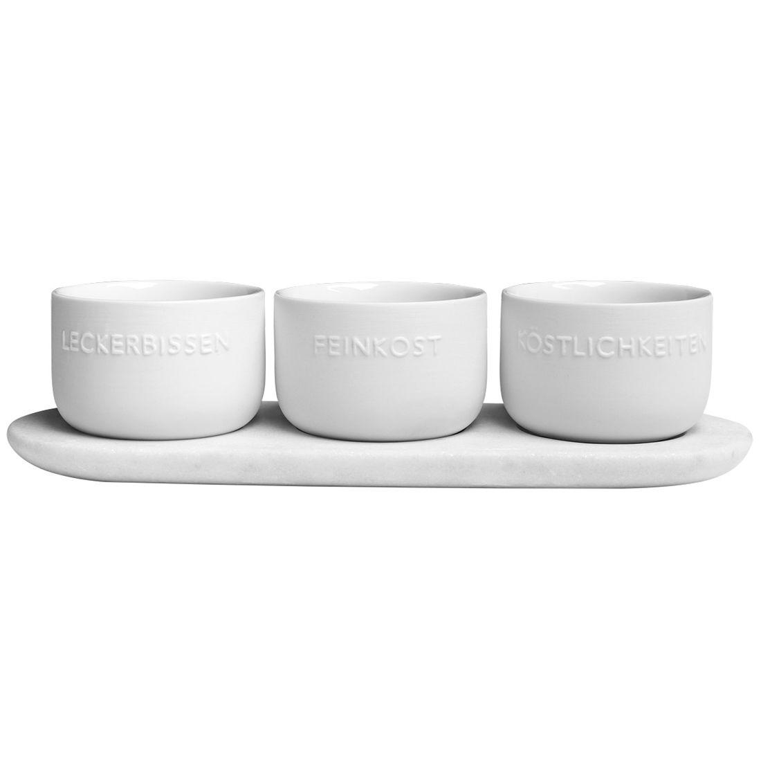 räder Design - Schalen-Set mit Unterlage Drei Kostbarkeiten 0014800