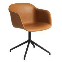 Muuto - Fiber Chair Leder Drehstuhl