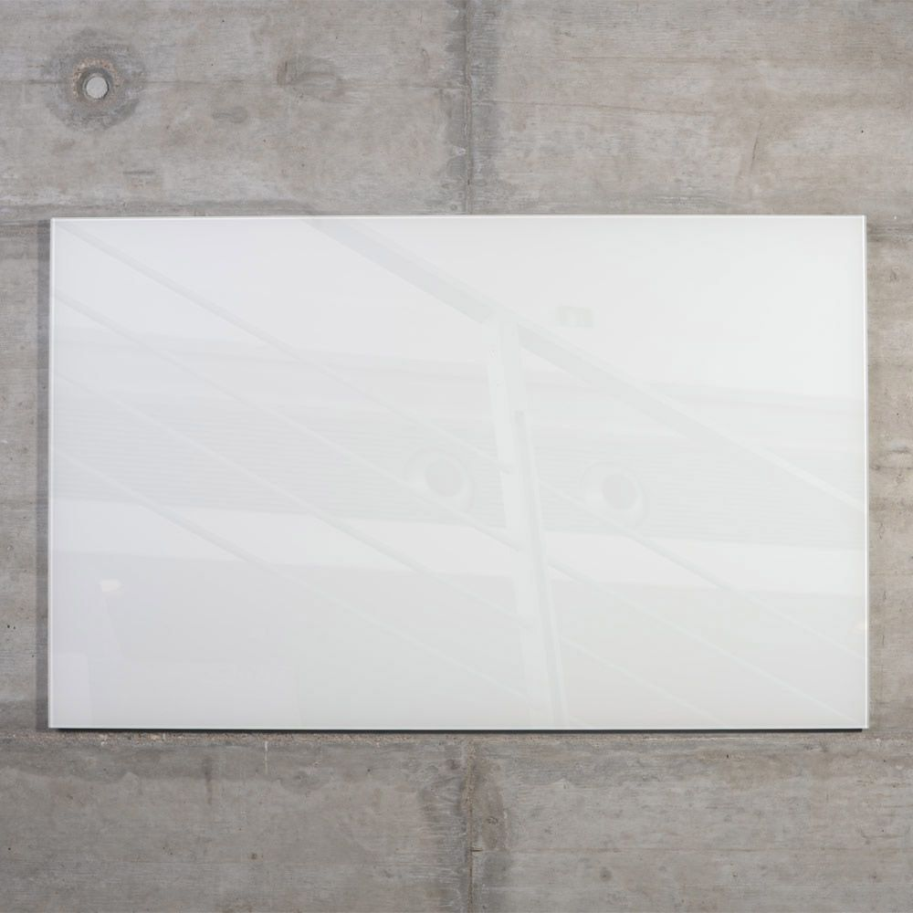 raum-blick Glas Magnetwand MAX 100x60 cm weiss M3-W-3